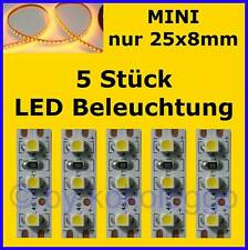 S506 - 5 Piece Mini LED Model Lighting 1in Yellow Lighting Houses Cars