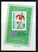 HUNGARY-1966.Souv.Sheet-World Cup Soccer Chships (sport,football) MNH! Mi Bl.53.