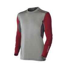 DeMarini Mens Comotion Game Day Long Sleeve T Shirt Grey/Red Medium WTD100229MD