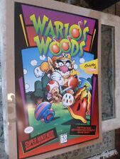Super Nintendo Poster Wario's Woods SNES NES Video Store Game Not Mario Wario