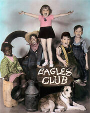 OUR GANG THE LITTLE RASCALS EAGLES CLUB 1930s 11x14 HAND COLOR TINTED PHOTOGRAPH