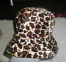 Ancien Chapeau Vintage Hat 1970 Léopard Polyester Mode années 60 French Touch