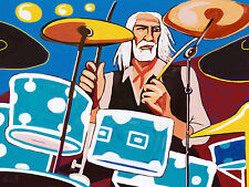MICK FLEETWOOD PRINT poster dw drums fleetwood mac the chain rumours tusk cd lp