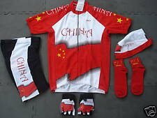 New CHINA Team Cycling Set Flag Jersey Shorts size S