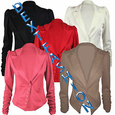 Unbranded Women's Waist Length Formal Button Coats & Jackets
