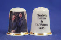 Sherlock Holmes & Dr.Watson 2015 China Thimble B/66