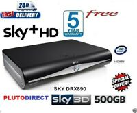 SKY HD BOX + HD BOX 500 GB AMSTRAD DRX890C 3D READY ON DEMAND 2017 VERSION