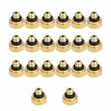 20pcs 0.3mm Brass Misting Nozzles Water Mister Sprinkle Set For Cooling System