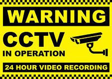 Warning CCTV in Operation, Diecut vinyl adhesive sticker decals  140x100mm