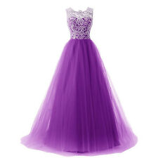 New Long Lace Chiffon Evening Party Ball Gown Prom Bridesmaid Cocktail Dresses