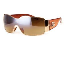 DG Eyewear Womens Mens Shield Designer Sunglasses Shades Fashion Retro Wrap Bla