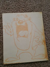 "Looney Tunes Taz Vinyl Decal Sticker -Orange- 8x6.5"""