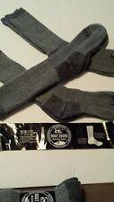 6 PAIR WOMEN MERINO WOOL BOOT SOCKS SIZE 9-11 GRAY WOOL .NEW