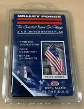 U.S. Flag Valley Forge 3'x5' Printed Polycotton Brass Grommets New in Package