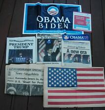 Kennedy Obama  Trump Historical Presidential Candidates Newspapers Lot