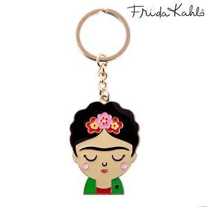 Sass & Belle Frida Kahlo Boho Fiesta Mexican Enamel Keyring Key Holder Gift