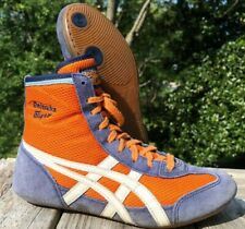 RARE Onitsuka Tiger 81 Wrestling Shoes Size 6.5 Orange Blue White ASICS