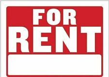 For Rent Sign Door Car House Boat Red Amp White 12 X 8