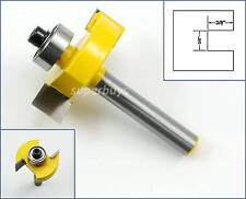 """3/8"""" Bearing L / T Slot Rabbeting Rabbet Joint Router Wood Cutter Drill Bit Tool"""