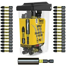 SabreCut Mixed Impact Bits PZ PH 32mm Milwaukee DeWalt Professional Magnetic