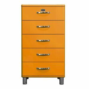 Tenzo 5215-017 Malibu Designer Kommode orange Schrank 111x60x41cm 5 Fächer MR2