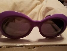 Authentic Vintage Mod Croc Purple Gianni Versace Sunglasses NWOT MOD418 COL955