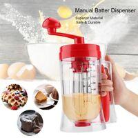Manual Pancake Machine Batter Dispenser Cupcake WaffleBreakfast Mixer Mix well