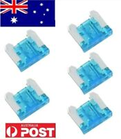 5pcs 15A 15Amp Low Profile Mini Blade Fuses For Auto Car Truck Boat Blue