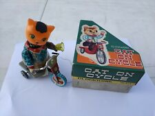 Red China Tin Toy Wind Up Toy Cat