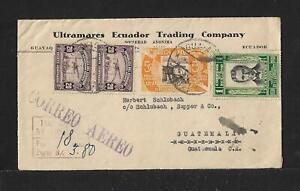 ECUADOR TO GUATEMALA AIR MAIL COVER 1931 SCARCE