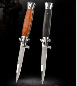 Stiletto Knife Italian Folding Blade Pocket Tactical Hunting Camping Knife AU
