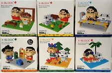 6 sets of New Crayon Shin Chan  Micro Block Nano Block