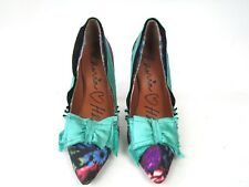 LANVIN X H&M MULTI COLOURED HEELS SHOES,FLORAL PATTERN  SIZE UK 6 OR 39