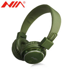 GREEN NIA Collapsible Micro SD/FM Radio/MP3 Player Bluetooth Headphone With Mic