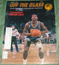 Off The Glass Basketball Magazine Pittsburgh Jerome Lane NBA March 7 1987