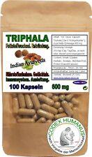 100 Kapseln 600 mg Triphala. FETTSTOFFWECHSEL GEDÄCHTNIS ABWEHRKRAFT HERZKRAFT