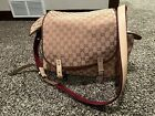 AUTHENTIC+GUCCI+DIAPER+BAG+WITH+CHANGING+PAD+Tan+And+Maroon