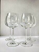 Di Vino by ROSENTHAL 13.2-Ounce Red Wine Clear Crystal Glasses, Set of 4, Marked