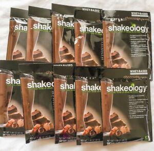 10 Packets Whey Chocolate Shakeology Unexpired