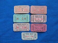 7 Vintage Hawaiian Theatres Ticket Lot - (Drive In Movie/Cinema)