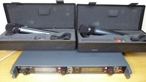 Sennheiser EM 3732 2 Channel Mic Receiver With 2  MD 5235 matched Wireless Mics