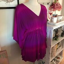 La Blanca Resortwear Magenta Bathing Suit Beach Cover-up NWT S/M Small / Medium