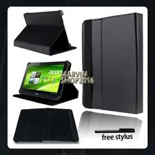 """For Various 10"""" Acer Iconia Tab Tablet - FOLIO LEATHER STAND CASE COVER + Stylus"""