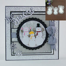 Christmas Snowman Metal Cutting Dies Stencil Scrapbook Card Embossing Craft DIY