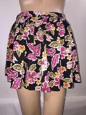 Mimi Chica Skater Skirt XS Floral Print Flared Short Mini Skirt Summer Style