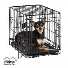 """New listing Single-Door Pet Crate Small Dog Puppy Cage For Pets 6 pound 18L""""x12W""""x14H&# 034; Best"""