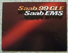 SAAB 99GLE & EMS Car Sales Brochure 1977 #204503