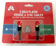 Game Controller Cables PS4 Xbox One Charge Sync 9 ft Gold Plated Quick Charging