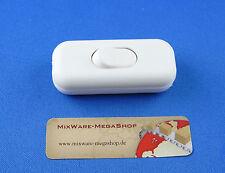 Schnur-Zwischenschalter Weiß, 2-polig, 6 A, Past für LED, Mit Zugentlastungen