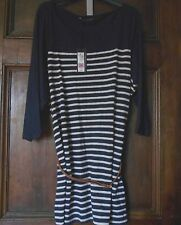 Marks and Spencer Semi Fitted Striped Hip Length Women's Tops & Shirts